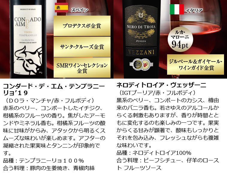 1級ムートン醸造責任者の秘蔵ワイン&ブルゴーニュ&アマローネ入り!欧州赤ワイン12本 金賞 イタリア カベルネ