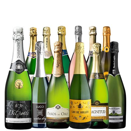 金賞シャンパン&ダブル金賞入り!世界銘醸国の泡12本セット ワインセット 金賞 スパークリングワイン ピノ・ノワール