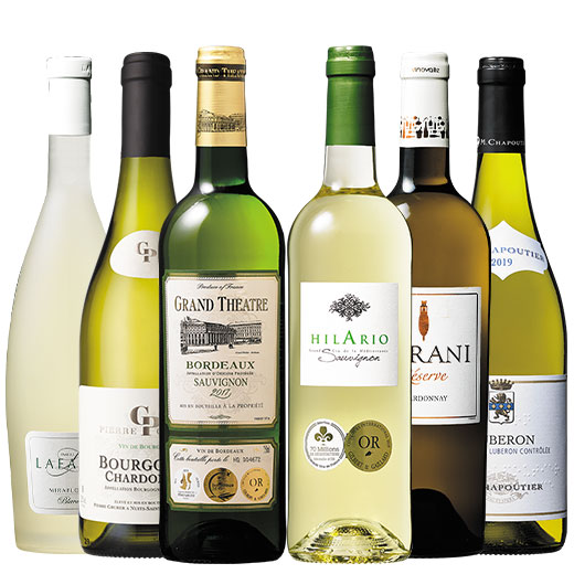 超有名&高評価生産者&金賞入り!フランス各地格上最強級白ワイン6本 ワインセット ボルドー ブルゴーニュ 白ワイン