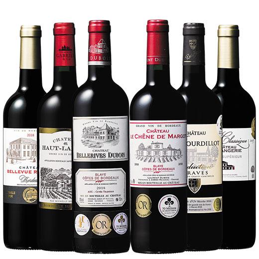 ボルドー金賞受賞赤ワイン6本セット ワインセット