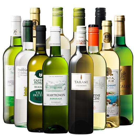 三大銘醸地&金賞入り!世界の辛口白ワイン12本セット ワインセット ボルドーワイン