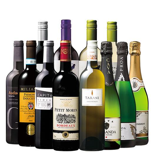 世界飲み尽くし赤白泡12本セット ワインセット 金賞 スパークリングワイン 赤ワイン 白ワイン