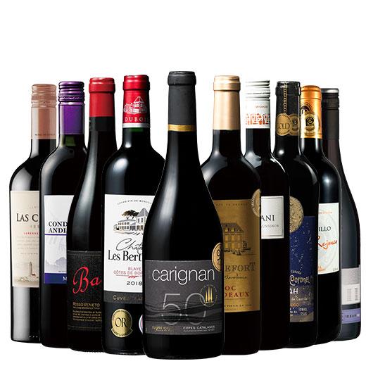 パーカー90ポイント&金賞ボルドー入り!世界選りすぐり赤ワイン10本セット 赤ワインセット 金賞 ボルドーワイン イタリア カベルネ