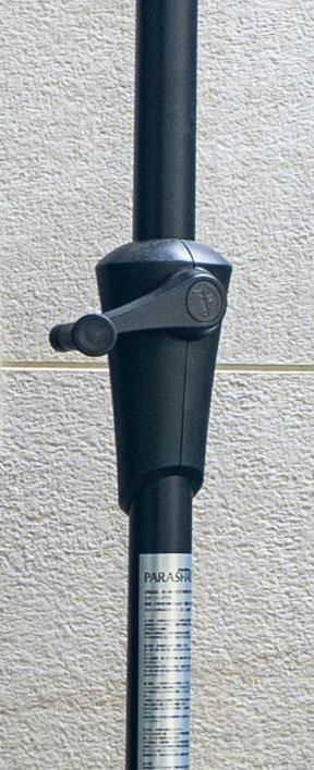 パラシェード ハーフ 突っ張り棒式半円型パラソル(日除けシェード)