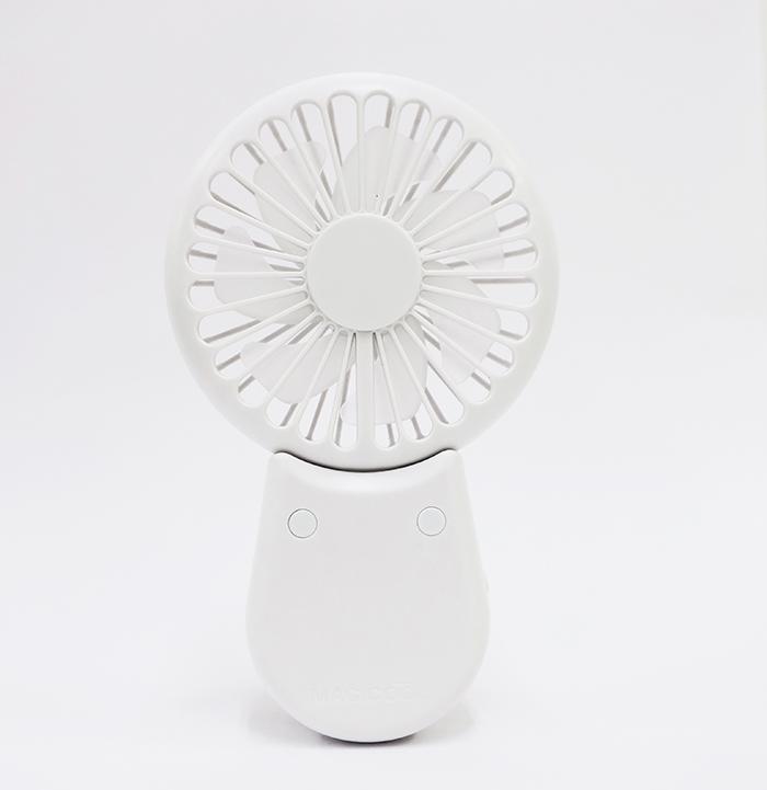 マイファンポケット 多機能ハンディファン(ウェアラブルファン) 卓上可能 風量3段階 USB充電 強力マグネット付 マジクール