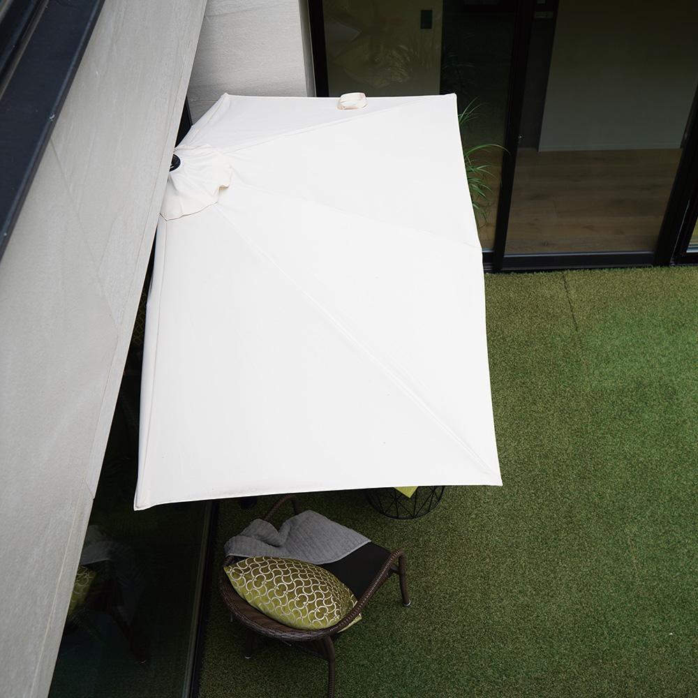 【予約注文6月下旬発送予定】パラシェード レクタングル 突っ張り棒式長方形型パラソル(日除けシェード)