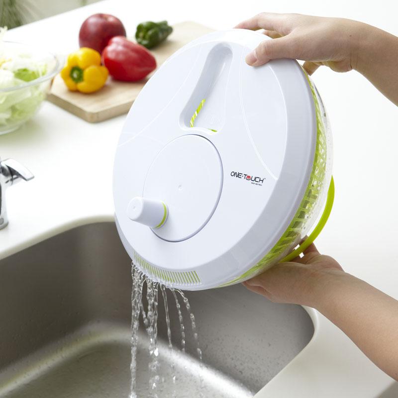 【アウトレット】サラダスピナー ウォッシュ&フレッシュ  野菜の水洗い・水切り・お米とぎがこれ1台で完了!