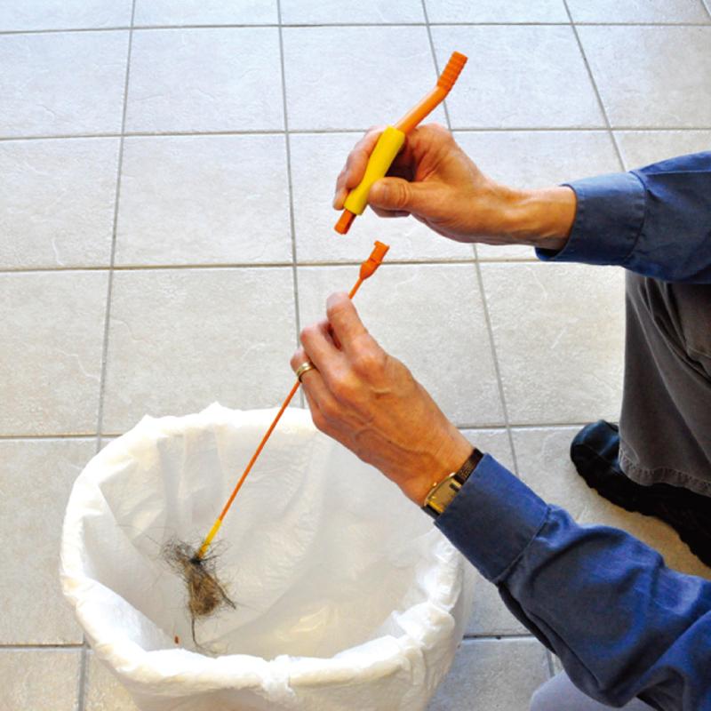 排水管の詰まりを一発解消!排水管お掃除クリーナー フレキシスネイクSP(バー2本入り)