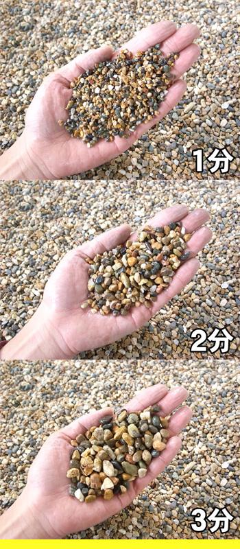 天然南部砂利 20kg袋 南部玉砂利 選べる3サイズ(1mm〜14mm)
