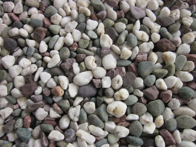 天然マーブル五色石(砂利)10〜30mm 20kg袋
