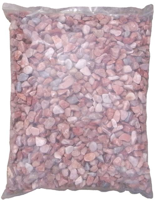 Bピンク 玉砂利(ピンク砂利)(16〜22mm) 20kg袋