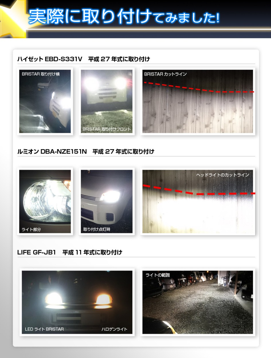 ファンレス LEDヘッドライト H7 BRISTAR