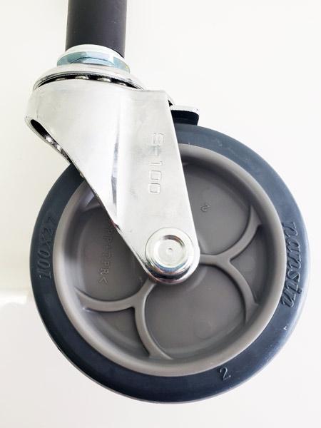 GR-100TP-S(自在φ100エラストマー車輪ゴムパイプ軸24径キャスターストッパー付き)