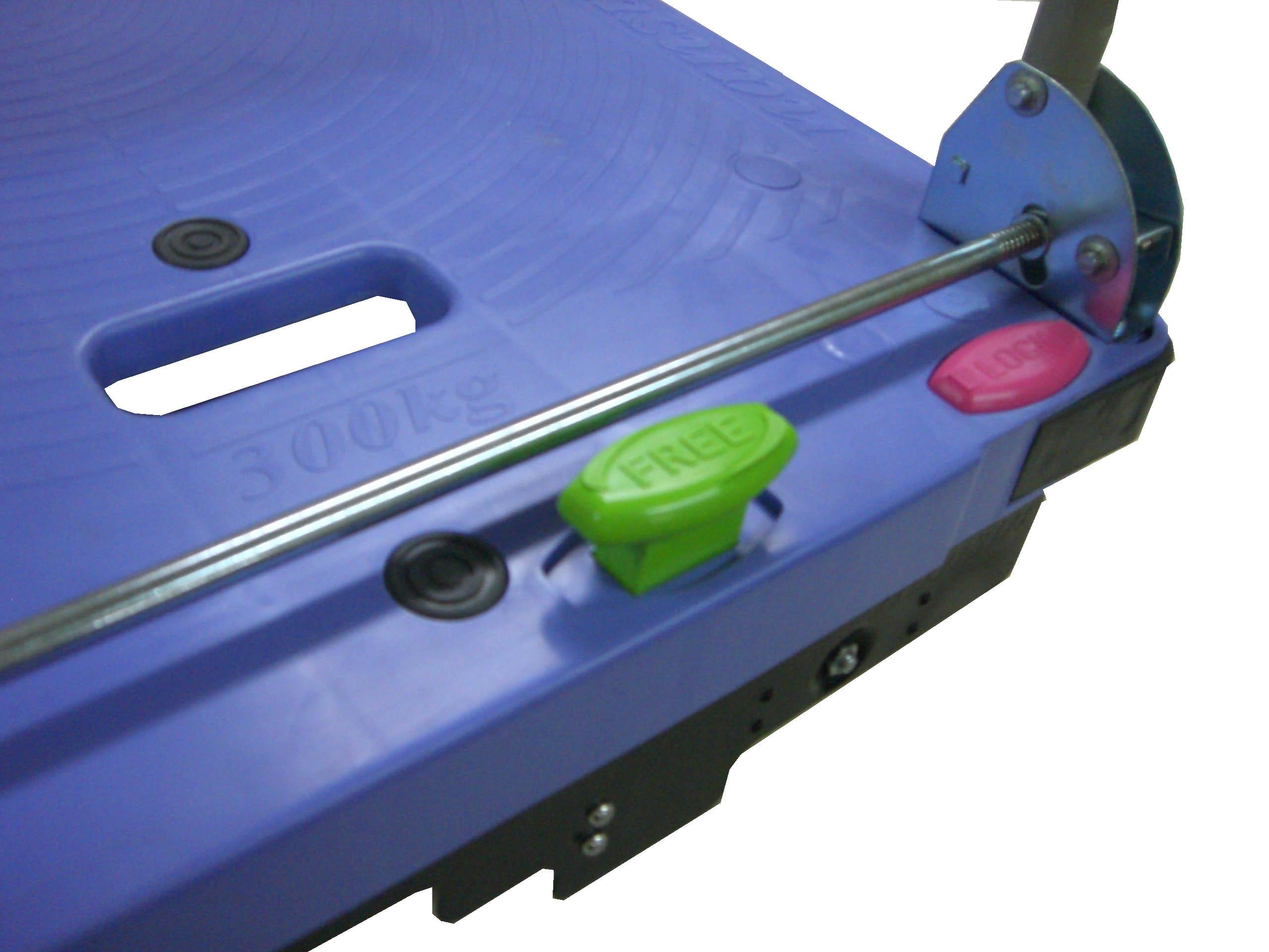 ナンシン サイレントマスター DSK-301B2 樹脂製ハンドル折りたたみ台車スペシャルブレーキ付