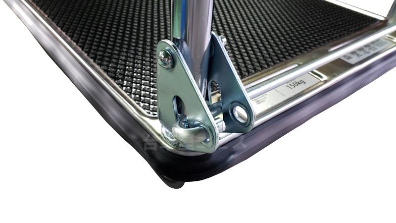 花岡車輛 プレミアムダンディシリーズ UDL-DX-GS(スチール製,サイレントキャスター付き折りたたみハンドル台車)