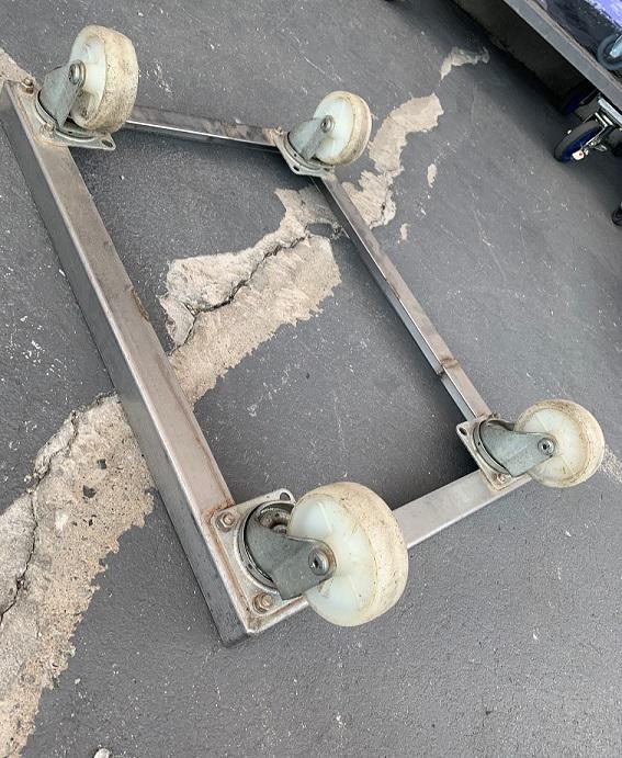 中古台車 ステンレスドーリー 内寸470×620