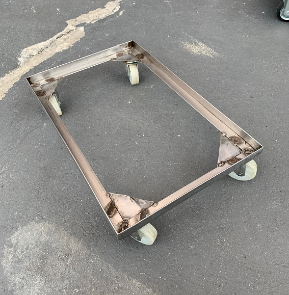 中古台車 ステンレスドーリー 内寸390×610