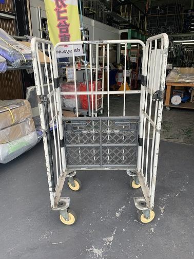 中古カゴ台車 1型低床 800x600xH1,450