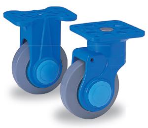 カナツー 静音台車 PLA300-DX-HS 樹脂製ハンドル折りたたみ台車 ハンドストッパー付