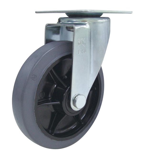 カナツー 静音台車 PLA300YES6-DX 樹脂製ハンドル折りたたみ台車