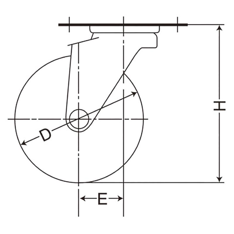 TEL-100UM(自在φ100ウレタン車輪キャスター)