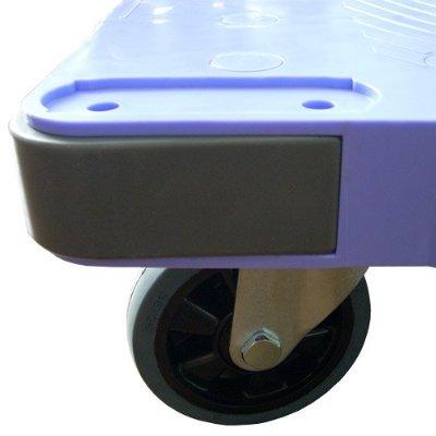 ナンシン サイレントマスター DSK-302B 樹脂製固定ハンドル台車 フットブレーキ付き