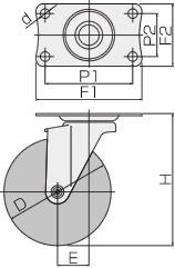 EJ-100RS(自在φ100ゴム車輪キャスターストッパー付)