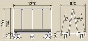 サカエ RTA-128 スチール製長尺運搬車