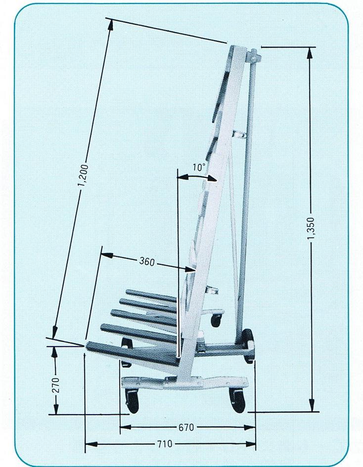 日本ベンリー ポニー重量級(500kg積み) 立てかけ台車