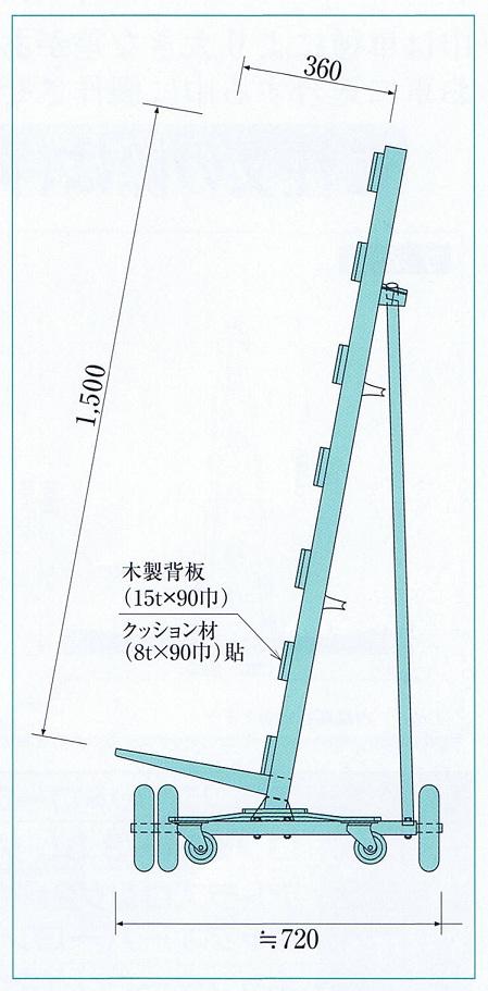 日本ベンリー ポニースーパー重量級(1000kg積み) 立てかけ台車