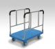 カナツー 長尺運搬車 PLA300-W(4輪自在) 樹脂製サイドハンドル静音長尺物運搬台車
