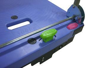 ナンシン DSK-302B2 (樹脂製手押し固定ハンドル微音キャスター・スペシャルブレーキ搭載タイプ)