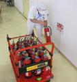 ナンシン DSK-R303B2 (手押し防災備蓄用樹脂製パイプ枠付き固定ハンドル微音キャスター・スペシャルブレーキ搭載タイプ)