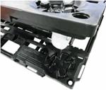 ナンシン PD-427-3SN 荷崩れ防止ガイド搭載 樹脂製微音キャスター・連結タイプ