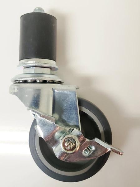 GR-50TP-S(自在φ50エラストマー車輪ゴムパイプ軸24径キャスターストッパー付き)