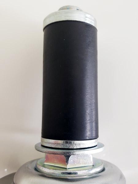 GR-75TB-S(自在φ75ウレタン車輪ゴムパイプ軸24径キャスターストッパー付き)