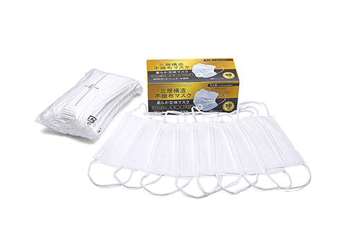 【C】〈広告商品〉【12箱セット】世界標準の高品質マスク 三層不織布マスク ソフト平ゴム 1箱50枚入 大人用
