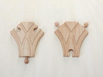 2ウェイ B-type 木のおもちゃ(木製汽車レール)