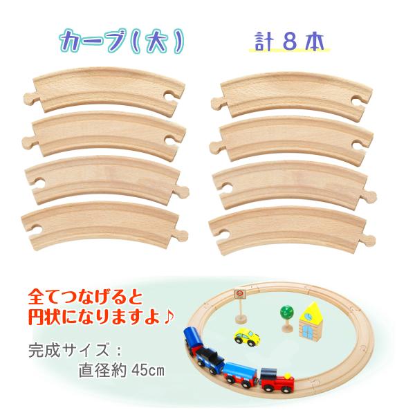 《present郵便車付き》★汽車レールセットベーシック 13pcs 木のおもちゃ(木製汽車レール)