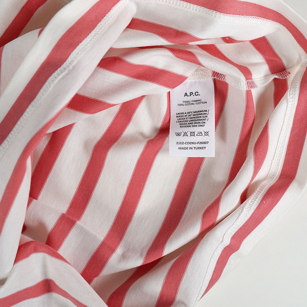 A.P.C. 長袖Tシャツ アーペーセー レディースボーダーカットソー (ROSE) Mariniere sweater Ally Sailor Tops【COENUF26007-FAA】