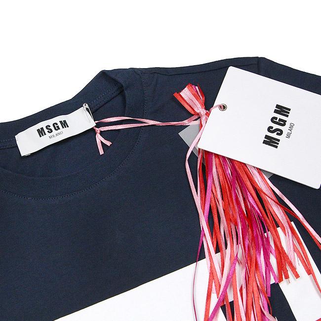 MSGM Tシャツ レディース エムエスジーエム 半袖 ボックスロゴ Tシャツ REGULAR T-SHIRT WITH MSGM BOX LOGO(全5色)【2441MDM95 184299】【2741MDM95 195797】