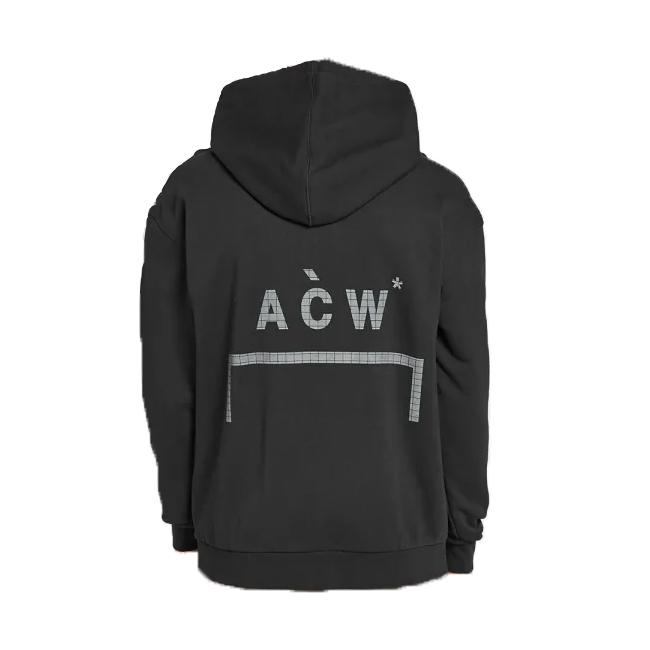 A COLD WALL ア コールド ウォール パーカー ACW CLASSIC FLAT OVERLOCK HOODIE SWEAT オーバーサイズ フーディー スウェット クラッシュ加工 蓄光プリント(全2色) 【ACW-MF19-HC01】