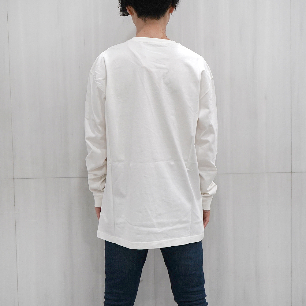 HERON PRESTON Tシャツ ヘロンプレストン 長袖Tシャツ ロンT REG TSHIRT LS NS HERONS TA OFF WHITE MULTI (0288/OFF WHITE) 【HMAB005F196000030288】