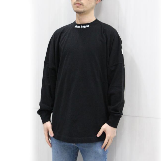 パームエンジェルス PALM ANGELS Tシャツ 長袖 ロンT メンズ クルーネック 首ロゴ ラウンドカット CLASSIC LOGO OVER L/S TEE (全2色) 【PMAB001R21JER001】
