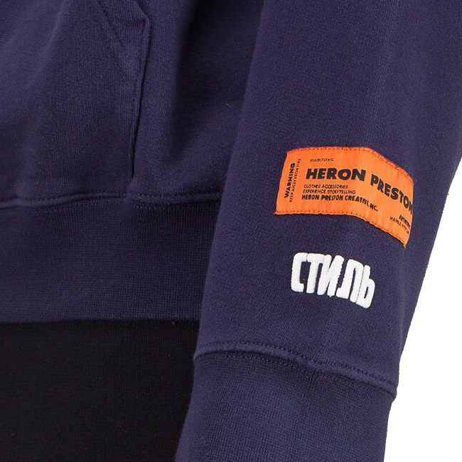 HERON PRESTON パーカー ヘロンプレストン フーディー HOODIE HERON DARK BLUE (3288/DARK BLUE) 【HMBB001F198080023288】