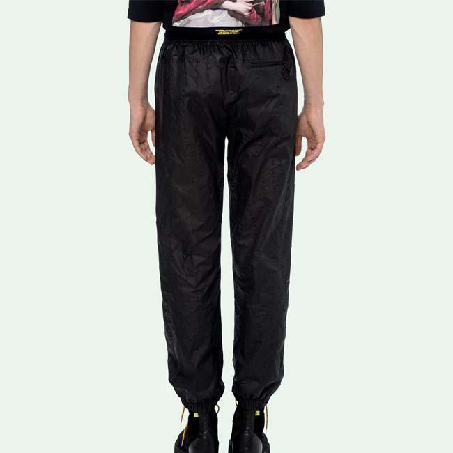 OFF-WHITE パンツ オフホワイト メンズ ナイロンパンツ TRACK PANTS(BLACK) 【OMCA096E19E140021000】