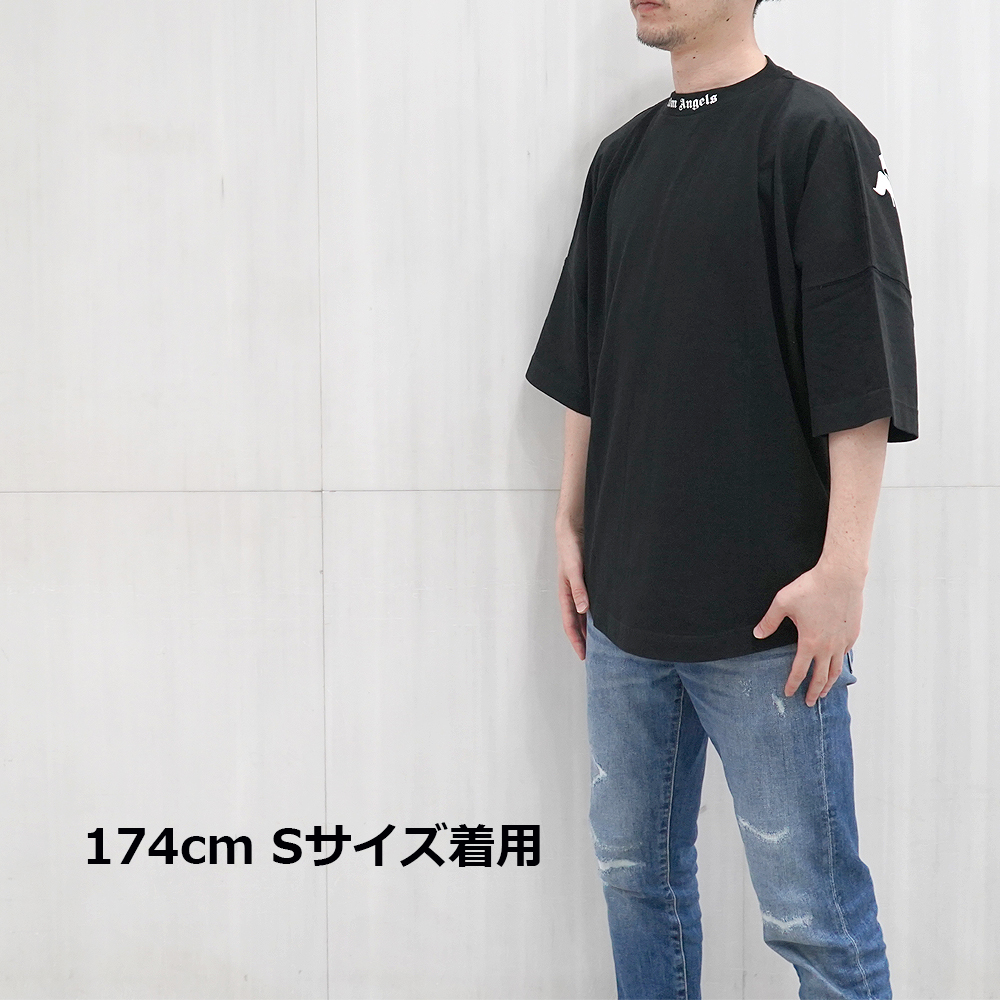 パームエンジェルス PALM ANGELS Tシャツ 半袖 メンズ クルーネック ロゴ CLASSIC LOGO OVER TEE (全2色) 【PMAA002R21JER001】