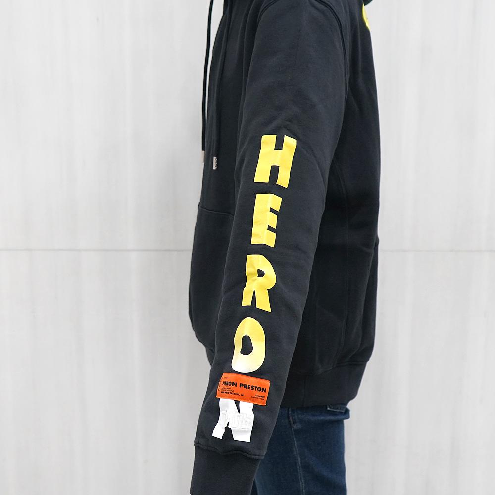 HERON PRESTON パーカー ヘロンプレストン パーカー 袖プリント フーディー HOODIE SKULL OFF BLACK MULTI (0488/OFF BLACK) 【HMBB004F198080150488】