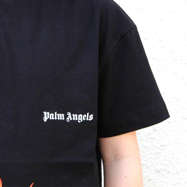 パームエンジェルス PALM ANGELS Tシャツ 半袖 メンズ クルーネック ロゴ ファイヤー FIRESTARTER CLASSIC TEE (1088/BLACK) 【PMAA001R20413017】
