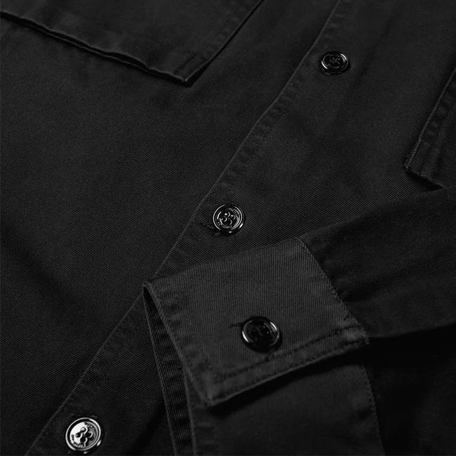 OFF-WHITE シャツ  オフホワイト メンズ 長袖 ワークシャツ シャツジャケット  WORK SHIRT (1001/BLACK) 【OMGA093F19D050261001】